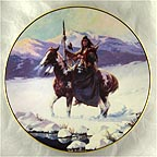 Lone Winter Journey Collector Plate by Chuck Ren