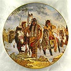 Lakota Rendezvous Collector Plate by Michael Gentry