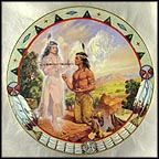 Peace Pipe Collector Plate by Alessandro Biffignandi