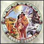 Seasons of Love Collector Plate by Alessandro Biffignandi