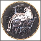 Snow Leopard Collector Plate by Gregg Murray