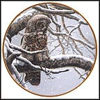 Snowy Watch Collector Plate by John Seerey-Lester