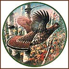 Ruffed Grouse Collector Plate by Jim Killen