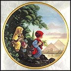 The Flight Into Egypt Collector Plate by Sam Butcher
