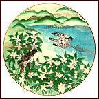 Fragrant Blossoms Collector Plate by Eiko Horikawa