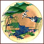 Gentle Breeze Collector Plate by Eiko Horikawa
