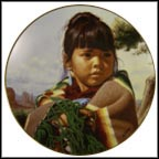 Morning Child Collector Plate by Jay Schmidt