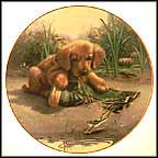 Catch Of The Day - Golden Retrievers Collector Plate by Jim Lamb