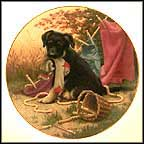 Hanging Out - German Shepherd Collector Plate by Jim Lamb