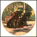 A New Leash On Life - Miniature Schnauzer Collector Plate by Jim Lamb