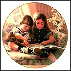 Eric And Erin's Storytime Collector Plate by Donna Green MAIN