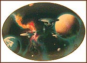 To Boldly Go... Collector Plate by Michael David Ward