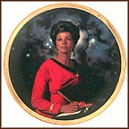 Uhura Collector Plate by Thomas Blackshear