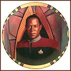 Commander Benjamin Sisko Collector Plate by Morgan Weistling