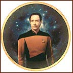 Lieutenant Commander Data Collector Plate by Thomas Blackshear
