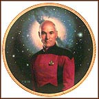 Captain Jean - Luc Picard Collector Plate by Thomas Blackshear