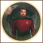 Commander William T. Riker Collector Plate by Thomas Blackshear