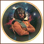 Lieutenant Worf Collector Plate by Thomas Blackshear