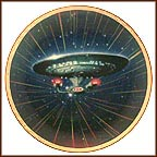 USS Enterprise NCC-1701-D Collector Plate by Keith Birdsong