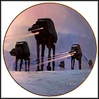 Imperial Walkers On Ice Planet Of Hoth Collector Plate by Thomas Blackshear