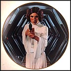 Princess Leia In Corridor Of Death Star Collector Plate by Thomas Blackshear