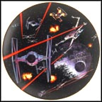 Space Battle Around Death Star Collector Plate by Thomas Blackshear MAIN