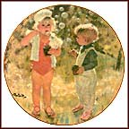 Blowing Bubbles Collector Plate by Thornton Utz
