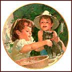 Kitty's Bathtime Collector Plate by Thornton Utz