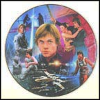 Luke Skywalker Collector Plate by Keith Birdsong