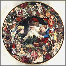 A Visit From St. Nicholas Collector Plate by John Grossman