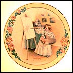 Little Masterpiece Collector Plate by Maud Humphrey Bogart MAIN