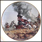 Attacking The Iron Horse Collector Plate by Frank McCarthy MAIN