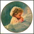 Donald Zolan &-#034-TWILIGHT PRAYER&-#034- 3 1/4&-#034- mini plate ...