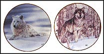 Solitude / A Second Glance - set of 2 Collector Plate by Al Agnew MAIN