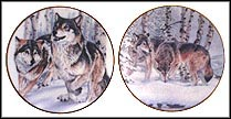Wolf Run / Wilderness Scent - set of 2 Collector Plate by Al Agnew MAIN