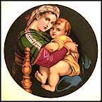 Madonna And Child - Raphael Collector Plate by Raphael