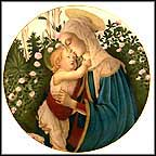 Madonna And Child - Botticelli Collector Plate by Sandro Botticelli