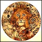 Peacable Kingdom Collector Plate by Nan Lee