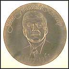 John F. Kennedy - Pewter Collector Plate MAIN