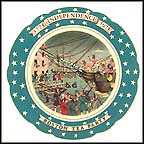 Boston Tea Party Collector Plate by Remy Hetreau