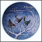 Three French Hens Collector Plate by Remy Hetreau