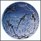 Four Colly Birds Collector Plate by Remy Hetreau