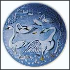 Seven Swans A' Swimming Collector Plate by Remy Hetreau