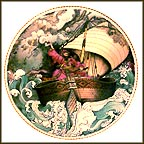 Sinbad The Sailor Collector Plate by Liliane Tellier