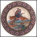 Ivan And Tsarevna On The Grey Wolf Collector Plate by Boris Zvorykin MAIN