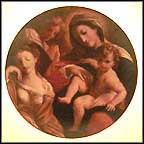Dream Of St. Catherine Collector Plate by Lodovico Carracci MAIN