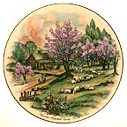 American Homestead Spring Collector Plate by Currier and Ives MAIN