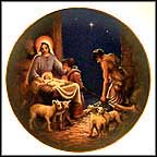 Adoration Of The Shepherds Collector Plate by Noel Syers