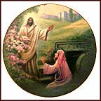 Jesus Appears To Mary Magdalene Collector Plate by Noel Syers