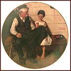 A Button For Gramps Collector Plate by Norman Rockwell